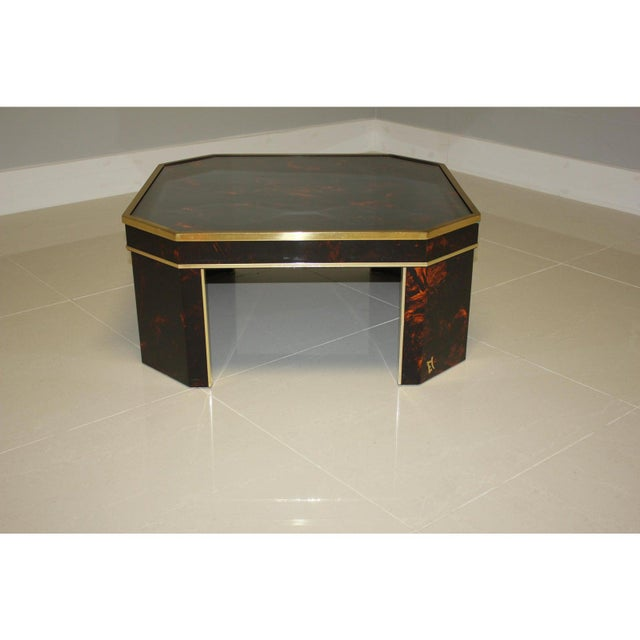 Metal 1970s French Mid-Century Modern Coffee Table by ''Sign Jean Claude Mahey '' For Sale - Image 7 of 13