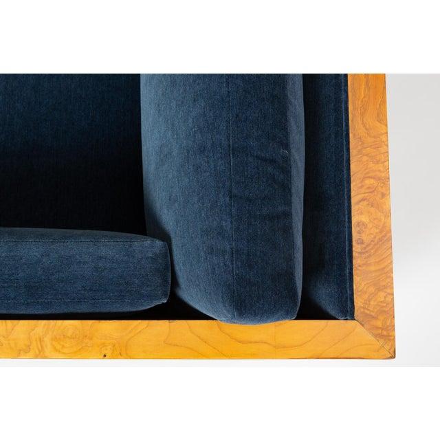 Milo Baughman Burl Wood Case Sofa for Thayer Coggin For Sale - Image 11 of 13