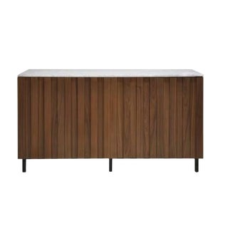 World's Away Industrial Modern Wood Sienna Cabinet/Sideboard For Sale