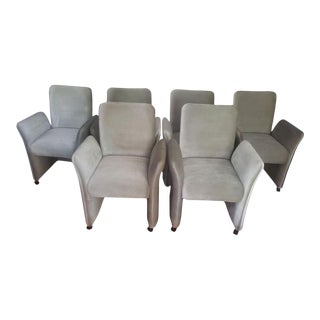 Postmodern Chiclet Style Dining Chairs - Set of 6 For Sale