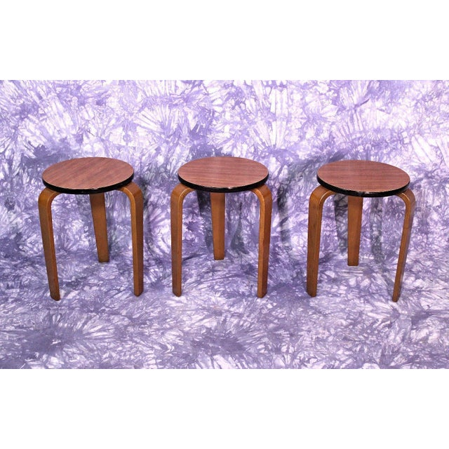 James Mont Art Deco Nesting Tables - Set of 3 For Sale - Image 10 of 10
