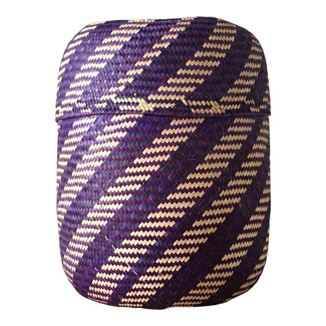 Handwoven Palm Basket - Image 1 of 3