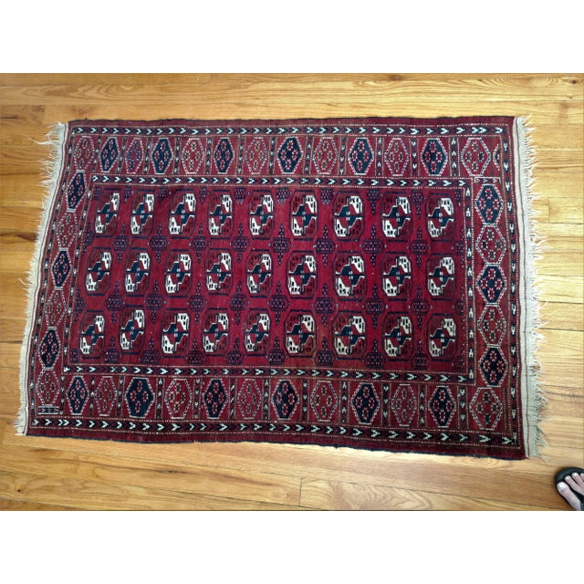 Antique North Indian Wool Area Rug - 3′6″ × 5′4″ For Sale In Sacramento - Image 6 of 8