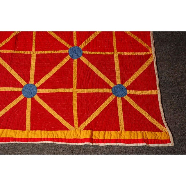 Cotton Folky and Early 20th Century Afro-American Quilt from Alabama For Sale - Image 7 of 7