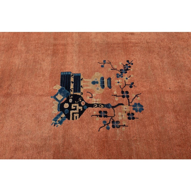 Early 20th Century Antique Art Deco Chinese Wool Rug 9 X 15 For Sale - Image 10 of 13