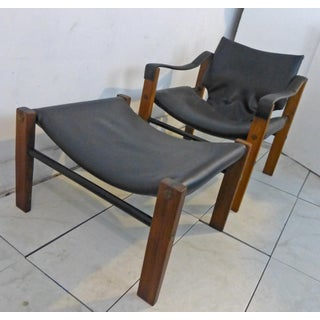 1970s Vintage Maurice Burke Safari Chair and Ottoman Preview