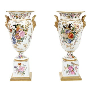 Mid 20th Century / English Porcelain Pieces / Vases - a Pair For Sale