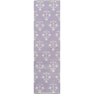 "Erin Gates Thompson Grove Lilac Hand Woven Wool Runner 2'3"" X 8' For Sale"