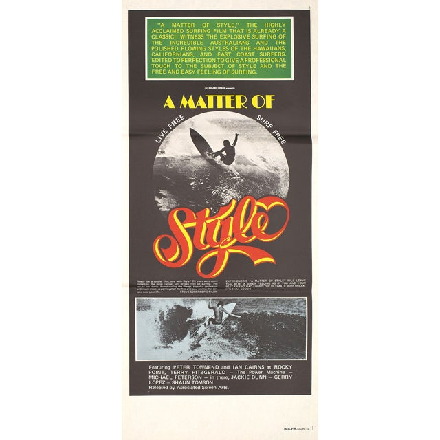 """A Matter of Style"" 1976 Surfing Poster - Image 2 of 2"
