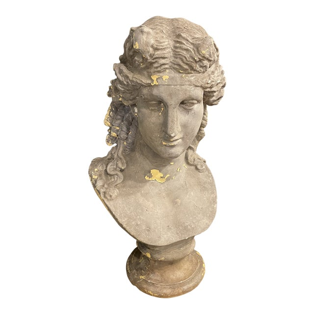Vintage Continental Classical Revival Bust For Sale