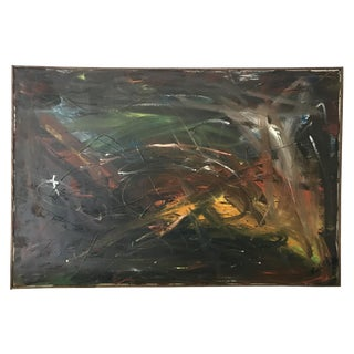 Mid Century Abstract Painting 1965 For Sale