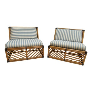 Mid-Century Willow Reed Lounge Settees - a Pair
