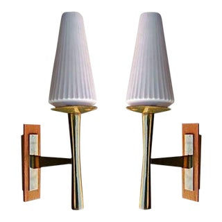 Sconces Attributed to Jacques Quinet - A Pair For Sale
