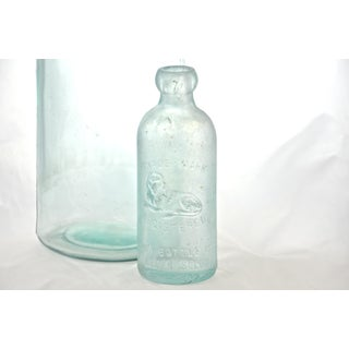 Antique Aqua Apothecary Bottles - A Pair Preview