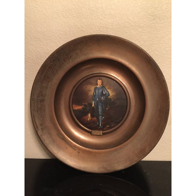 Early 18th Century Vintage the Blue Boy Wall Plate For Sale - Image 5 of 5