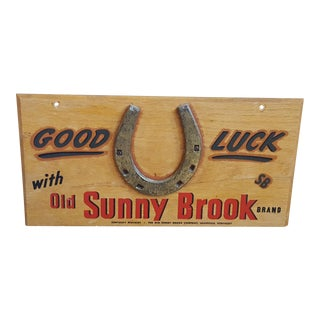 Vintage Wooden Whiskey Sign