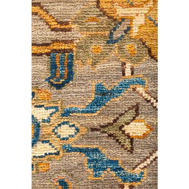 "Traditional Ziegler Hand Knotted Area Rug - 8' 4"" X 9' 8"" For Sale - Image 3 of 4"