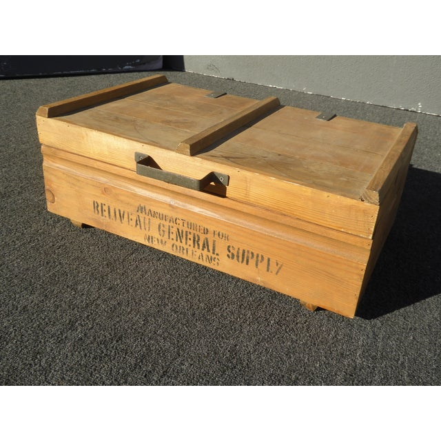Vintage Industrial Tools Supplies Storage Box for Beliveau General Supply For Sale In Los Angeles - Image 6 of 13