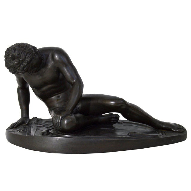 """19th Century """"The Dying Gaul"""" Bronze Statue Signed M Amadoi N 'Napoli' For Sale - Image 13 of 13"""
