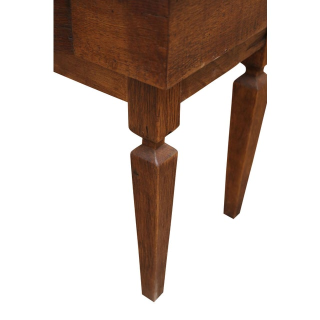 Wood French Walnut Vanity Table For Sale - Image 7 of 8