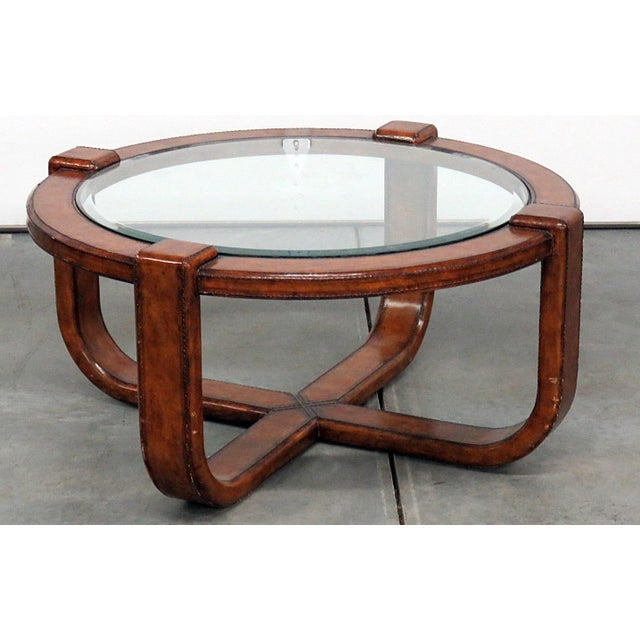 Late 20th Century Mid-Century Modern Design Glass Top Coffee Table For Sale - Image 5 of 5
