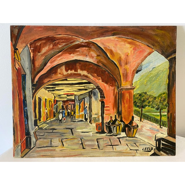 Market Scene Painting For Sale In Washington DC - Image 6 of 6