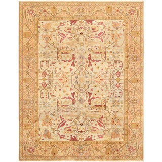 Oushak Inspired Lamb's Wool Area Rug - 14′5″ × 19′7″ For Sale