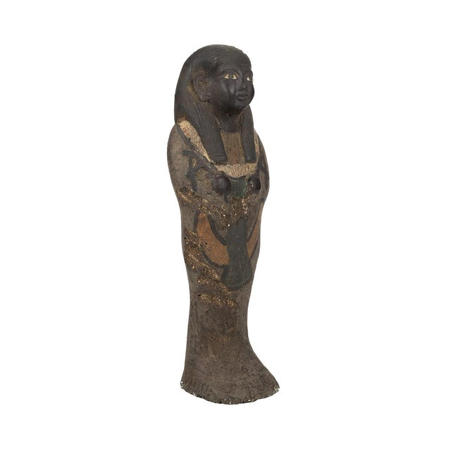 "Antique Egyptian 10"" carved Stone Pharaoh Figurine size 2 x 9"" A beautiful piece that will add to your décor!"