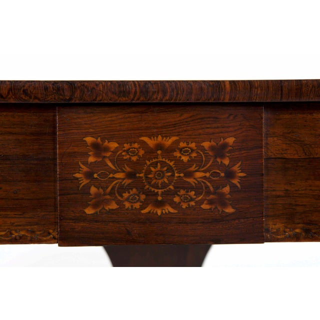 Brown 19th Century English Regency Antique Sofa Table For Sale - Image 8 of 13