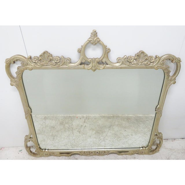 Silver Gilt Carved Mirror For Sale In Philadelphia - Image 6 of 6