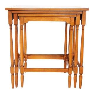 Hekman Walnut Nesting Tables - Set of 3 For Sale