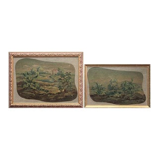 19th Century Aubusson Study Oil Paintings, Framed - a Pair For Sale