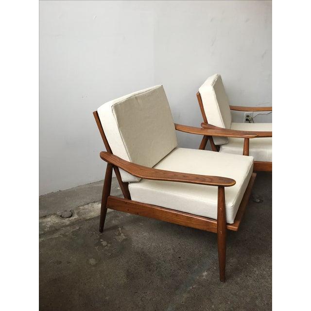 Oak Mid-Century Armchair-Single Chair - Image 10 of 11