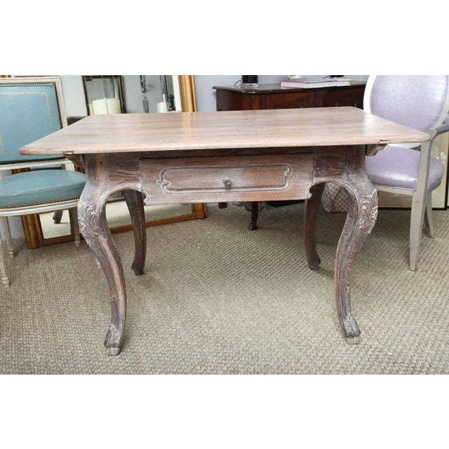 French French Cerused Oak Writing Table For Sale - Image 3 of 11