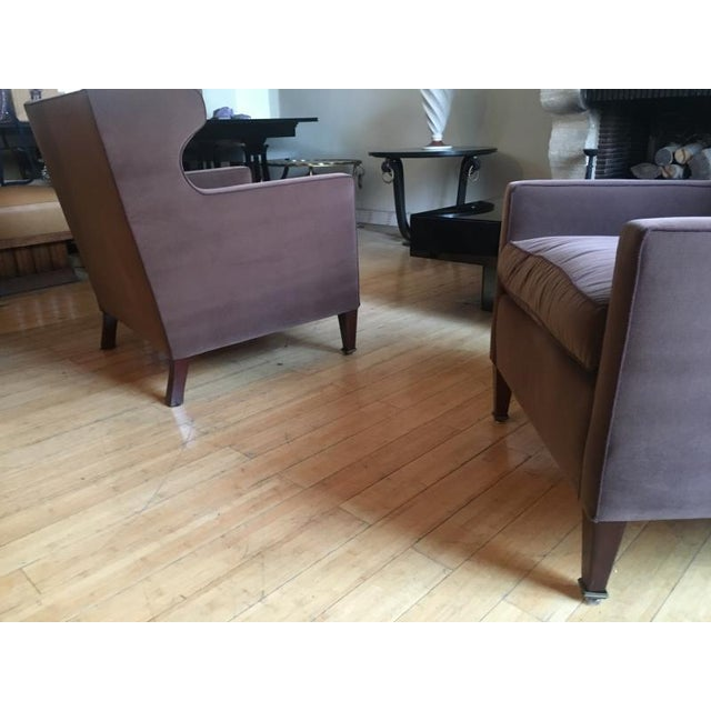 Jacques Quinet Jacques Quinet Pair of Chic Wing Chairs For Sale - Image 4 of 8