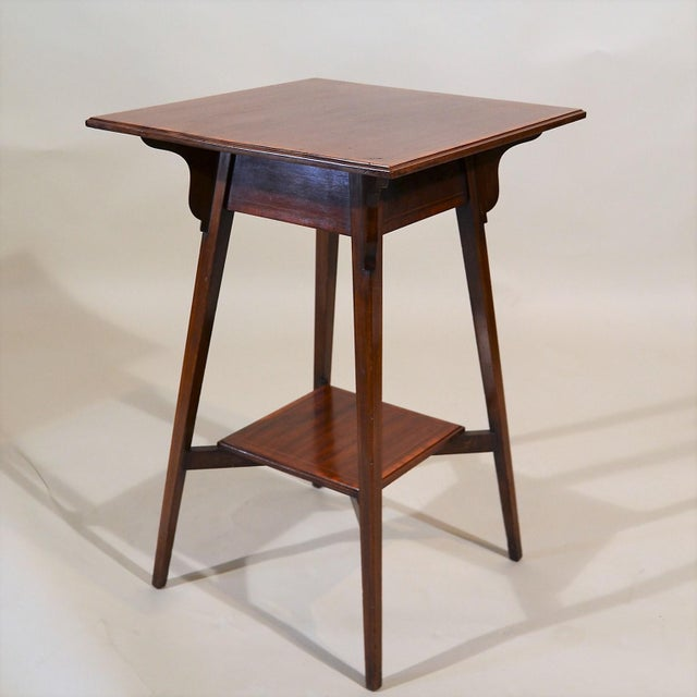 Antique English Mahogany Occasional Table Circa 1890 For Sale - Image 4 of 4