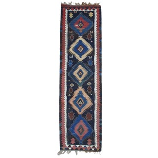 Antique Shahsavan Kilim, Wide Runner For Sale