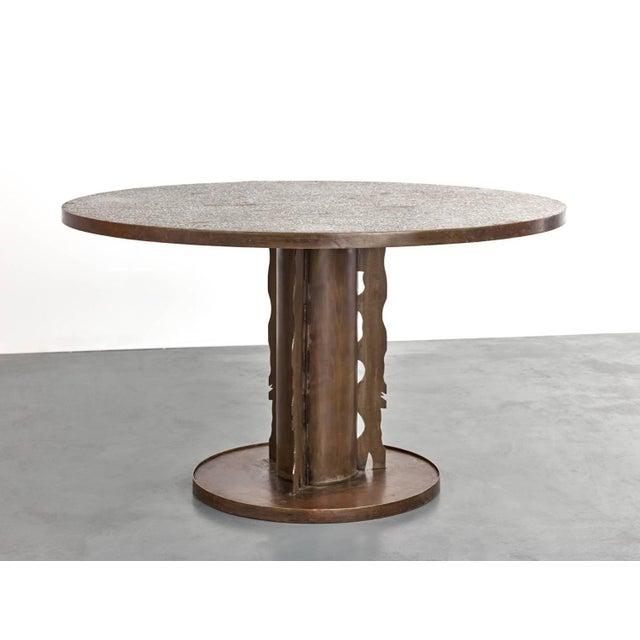 Brutalist Phillip and Kelvin Laverne Etruscan Dining Table, 1965 For Sale - Image 3 of 8