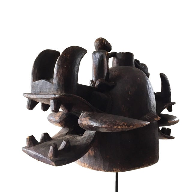 Superb rare and old fabulous Senufo Wanyugo Fire Spitter Mask from the people in the Cote d'Ivoire. This Senufo Wanyugo...