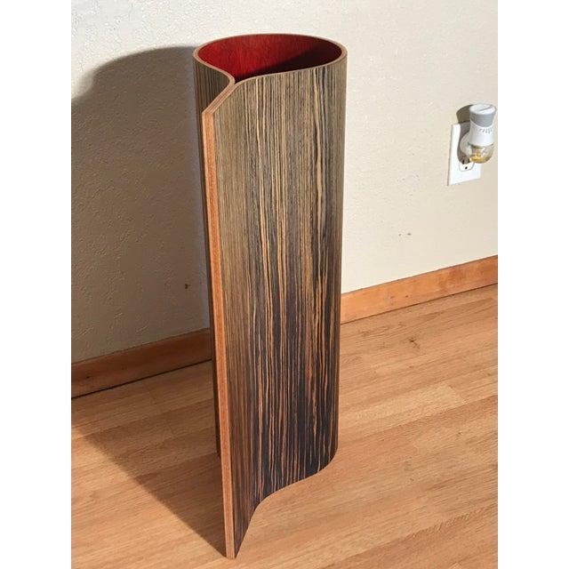 1970s 1970's Vintage Wooden Floor Vase For Sale - Image 5 of 6