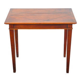 1950's French Country Style Oak Side Table For Sale