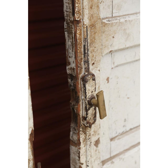 Metal Three Antique French Doors For Sale - Image 7 of 11