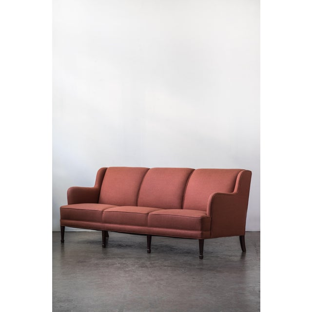Mid-Century Modern Three-Seat Sofa by Frits Henningsen For Sale - Image 3 of 5
