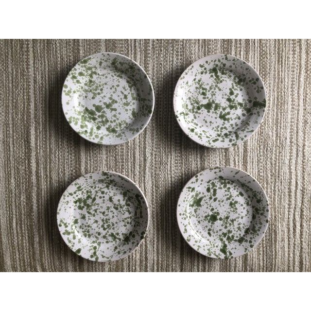 Penny Morrison Green Speckled Ceramic Plates - Set of 4 For Sale - Image 9 of 9