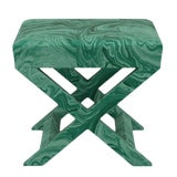 Image of Scalamandre X Bench in Malachite For Sale