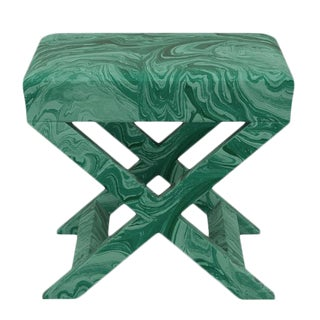 Scalamandre X Bench in Malachite For Sale