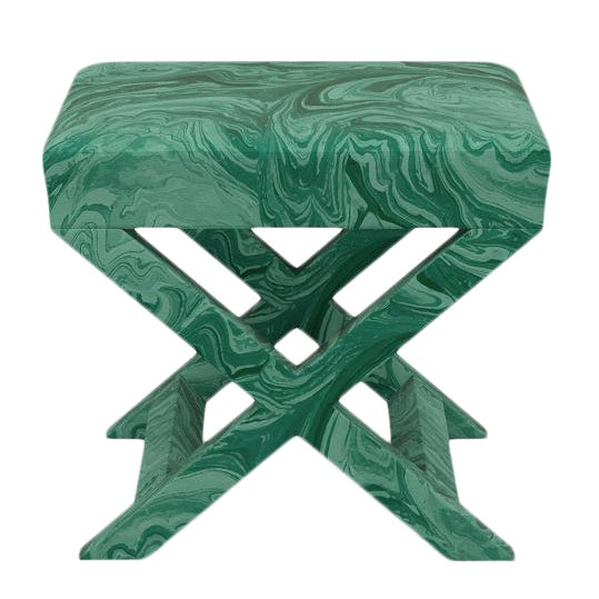 Scalamandre X Bench in Malachite For Sale