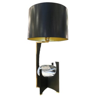 """""""Galileo"""" Black Iron and Glass Table Lamp by Esperia For Sale"""