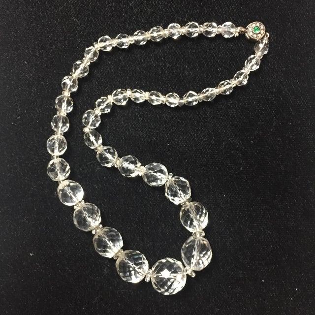 Edwardian Cut Lead Crystal Bead Choker Necklace & Sterling Earrings,1905 For Sale In Los Angeles - Image 6 of 13