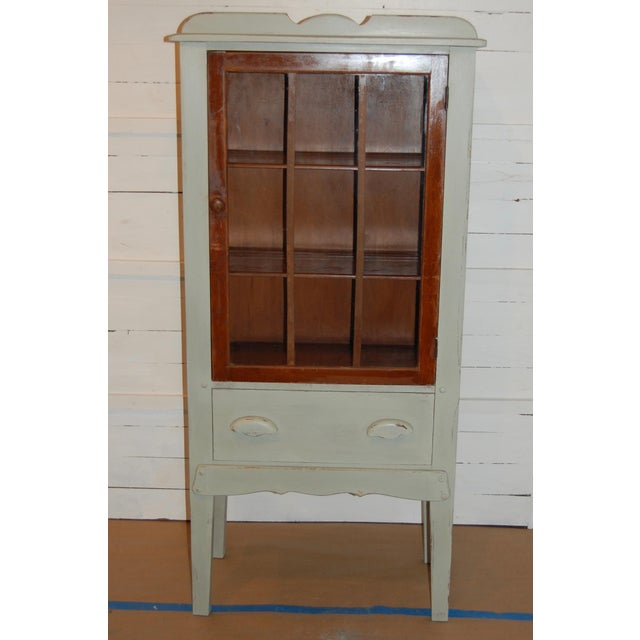 Antique Painted Display Cabinet - Image 2 of 10